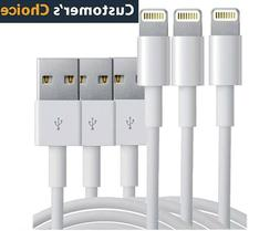 3 PACK USB Data Charging Charger Cables Cords For Apple iPho