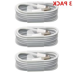 3 Pack - USB Sync Data Charging Charger Cable Cord for iPhon
