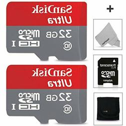 SanDisk 32GB Micro SD Memory Card - 2 PACK  for Asus ZenFone