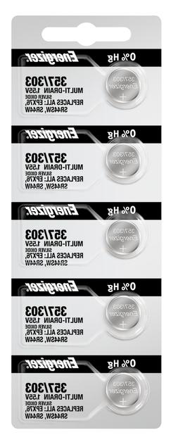 Energizer 357/303 Silver Oxide Battery: Card of 5