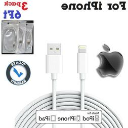 3x 6ft For iPhone 5,6,7 charge & Data PVC 8-pin Lightning t