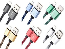 3Pack 6Ft Lightning Cable Heavy Duty for iPhone 6 7 8plus Ch