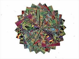 40 5 inch kaleidoscope quilting fabric squares