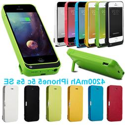 4200mAh External power bank Charger pack backup battery case