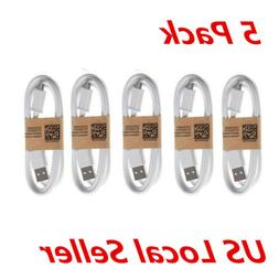 5-Pack Micro USB Charger Fast Charging Cable Cord For Androi