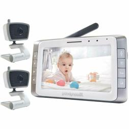 """MoonyBaby 5"""" Large LCD Two Cameras Pack Video Baby Monitor L"""