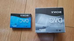 5-PACK + 1 extra Sony Mini DV Camcorder Tapes DVC 60 min NEW