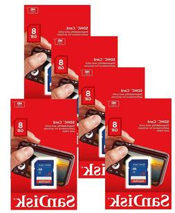 5 Pack SanDisk 8GB 16GB 32GB SDHC SD SDSDB Class 4 Flash Cam