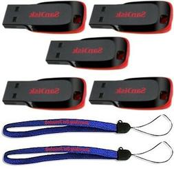 5 Pack SanDisk 8GB Cruzer Blade Flash Drive Thumb/Pen/Jump/U