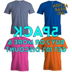 5 PACK AAA ALSTYLE 1301 MEN'S PLAIN SHORT SLEEVE T SHIRT PLA