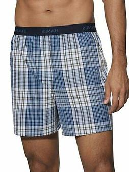 Hanes 5 Pack Boxer Brief Classics Mens TAGLESS Comfort Flex