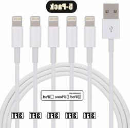 5 Pack Charger Cable Heavy Duty Charging Cord For iPhone 6 7