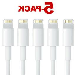 5-Pack Charging Cable Charger Cord For Apple iPhone XR X Xs