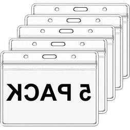 """5 Pack Clear Vaccination Card Protector 4x3"""" Vaccine Record"""