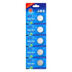 5 Pack CR1225 Lithium Battery 3V CR 1225 Coin Button Cell Ba