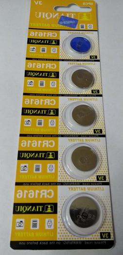 5 Pack CR1616 3v Lithium Batteries Coin Cell 50mAh Exp 2021