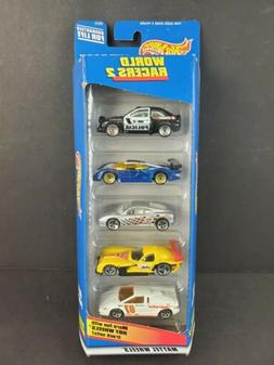 Hot Wheels 5 Pack Diecast Car Set World Racers 2 Exclusive D