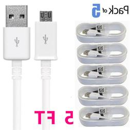 5-Pack For Samsung Galaxy S6 S7 Note 4 5 Micro USB Fast Char