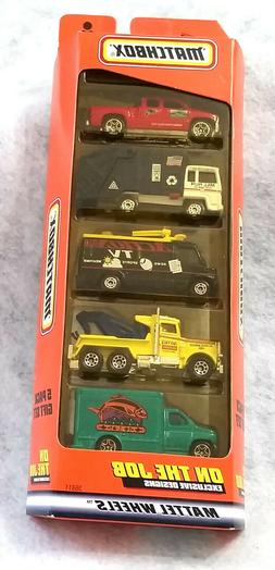 "Matchbox 5 Pack Gift Set ""On The Job"" 1998 Mint In Package."