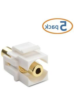 5 pack gold plated 3 5mm trs