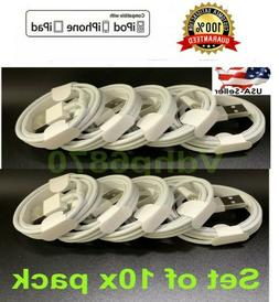 5 Pack Lot Lightning Cable 3/6/10 FT USB Charger for Apple i
