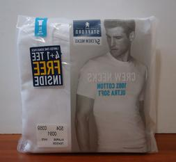 Stafford 5-Pack Men's 100% Cotton Ultra Soft Crew-Neck T-Shi