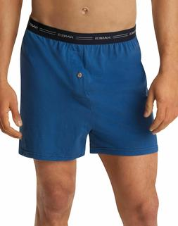 5 Pack Hanes Men's Knit Boxers - Sizes S-3XL - ComfortSoft &