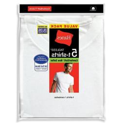 5-Pack Hanes Men's TAGLESS Crewneck Undershirt T-Shirts - Wh