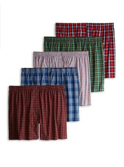 5-Pack Hanes Men's Ultimate Tagless Boxers Plaids Large 36-3