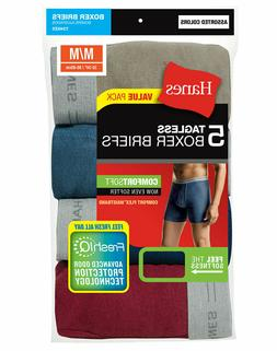 Hanes 5 Pack Men's Underwear Tagless Boxer Briefs Assorted/S