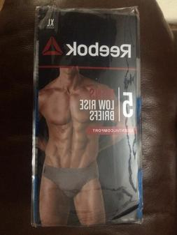 Reebok 5 Pack Mens Low Rise Briefs Men's Underwear Bikini Ch