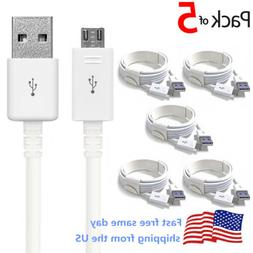 5 PACK Micro USB Charger Charging Sync Data Cable For Galaxy