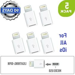5 pack micro usb to lightning cables
