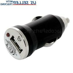 Mini Universal USB Car Charger Adapter Bullet, 5V 1A, Black
