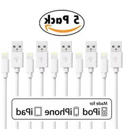5-PACK NEW USB CABLES CORD CHARGER FOR ORIGINAL APPLE IPHONE
