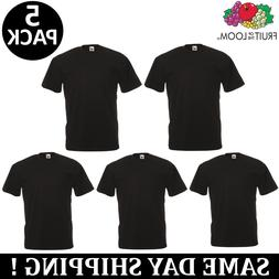 5 pack of plain mens black t