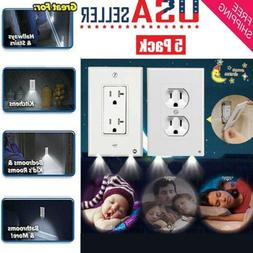 5 Pack Outlet Wall Plate Led Night Lights Cover Duplex With