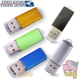 Bulk 5 Pack USB 2.0 Flash Memory Pen Drive Thumb Stick 128MB
