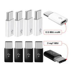 5 Pack USB 3.1 Type C Male to Micro USB Female Adapter Conve