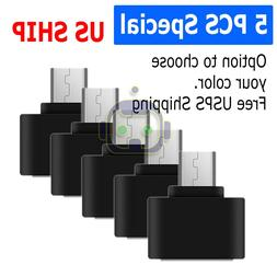 5 Pack USB-A Female To USB-C Male Adapter OTG USB 3.0 3.1 Co