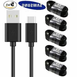 5 Pack USB C Cable Type C Fast Charger For OEM Samsung Galax
