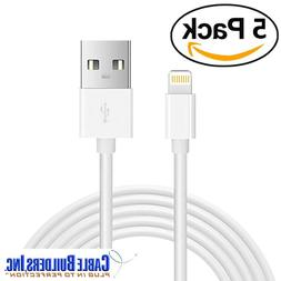 5-PACK USB LIGHTNING CABLE 1M 3.3FT CORD FAST CHARGE for APP