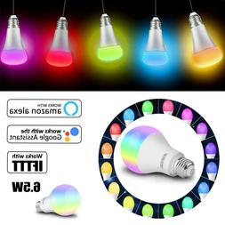 5 Pack WiFi Smart Light Bulb Bulbs Dimmable LED E27 For Goog