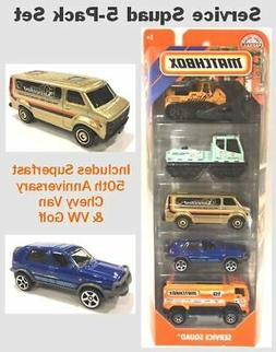 Matchbox 5-Pack with 50th Anniversary Chevy Van - MB Service