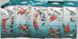 """5 Packs Double Drop Bottom Fishing Rig 2/pack 60# 24"""" Fluoro"""