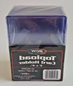 5 PACKS OF 25  BCW 59 PT THICK TOPLOADERS PRIORITY MAIL