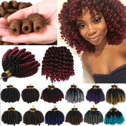 5 Packs Ringlet Wand Curl JAMAICAN BOUNCE 6 inch Hair Croche