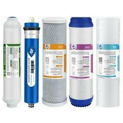 5 Stage Reverse Osmosis System Water Filter with 50GPD RO Me