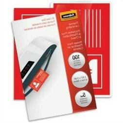 Fellowes 52015 Glossy Pouches - ID Tag not punched - 100-pac
