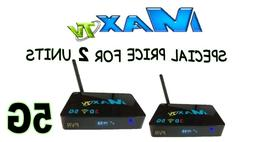 MAX TV 5G -2 pack of 2018 MAXTV IPTV + ANDROID 7.1 WIFI PVR